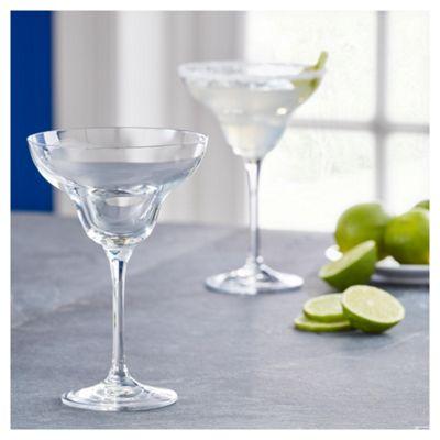 Fox & Ivy Crystal Glass Pack of 4 Margarita Glasses
