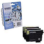 Epson Alarm Clock 27XL DURABrite Ultra Multipack Ink Cartridge (Cyan/Magenta/Yellow)