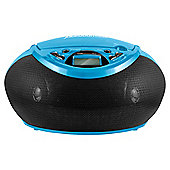 Juice CD Player and Radio Portable Boombox - Blue