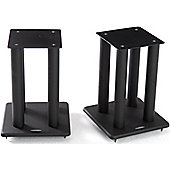 Atacama Speaker Stands in Black - Height 400mm