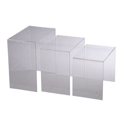 Buy Homcom Pc Acrylic Perspex Nesting Tables Clear From Our - Clear nesting tables