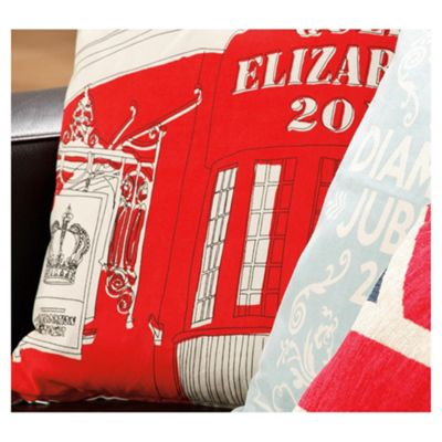 Best Of British Queen Jubilee Cushion, Red