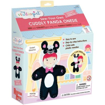 University Games My Studio Girl Sew-your-own Cuddly Panda Onesie