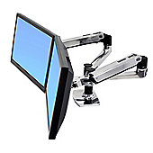 Ergotron LX Side by Side Dual arm,Polished Aluminium
