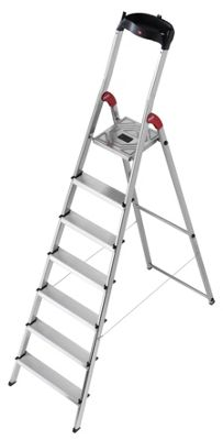 Hailo 325cm L60 Aluminium Safety Household Ladder with Multifunction Tray