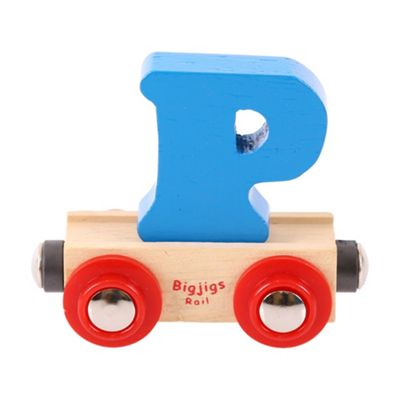 Bigjigs Rail Rail Name Letter P (Blue)