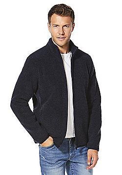 F&F Textured Zip-Through Fleece - Navy