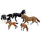 Realistic 5pc Horse Figurine Toy Set by Animal Planet