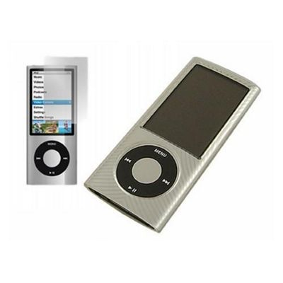 White Twin Pack ProGel Skin Case & LCD Screen Protector - iPod Nano 5G