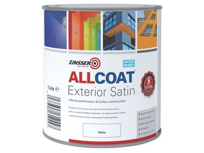 Zinsser ALLCOAT Exterior White Primer / Finish 1 Litre