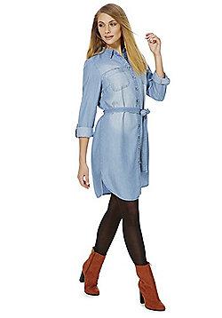 F&F Tencel® Denim Shirt Dress - Light wash