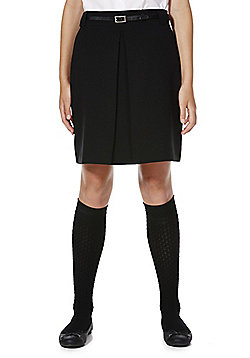 F&F School A-Line Skirt with Belt - Black
