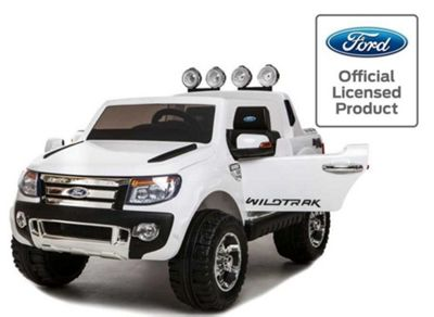 12V Kids Ride On Car White battery powered ride on car Ford Ranger