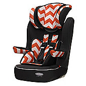OBaby Group 1-2-3 High Back Booster Car Seat (ZigZag Orange)