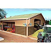Brushwood Bt4000 3 Bay Multi Purpose Shed - 1:32 Farm Toys