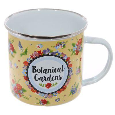 Puckator Enamel Mug, Botanical Garden
