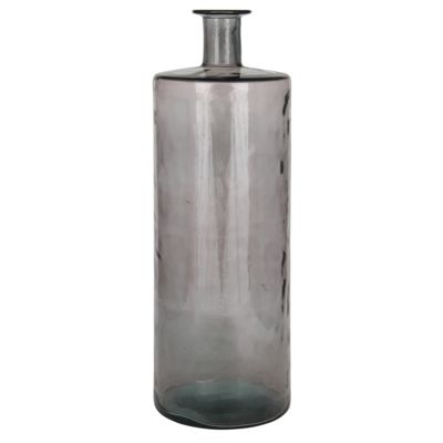 Smoked Grey Recycled Glass Giant Bottle