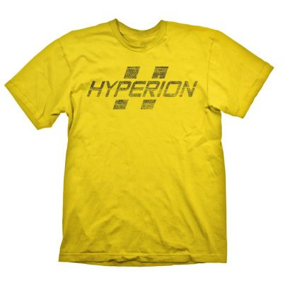 Borderlands Hyperion Logo Men's T-shirt, Small, Yellow (ge1706s) - Gaming T-Shirts