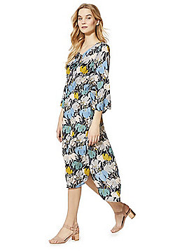 Izabel London Floral Print Midi Dress - Multi
