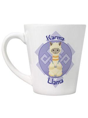 Karma Llama Latte Mug, White