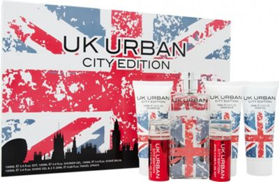 Jigsaw UK Urban City Edition Gift Set 100ml EDT + 100ml Shave Gel + 100ml Aftershave Balm + 100ml Shower Gel + 2 x 20ml Travel Spray For Men