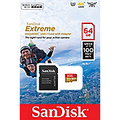 Sandisk Extreme 64GB MicroSDHC UHS-I Class 10 memory card
