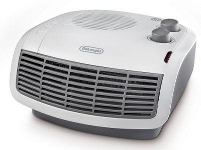 DeLonghi HTF3033 Fan Heater, 3kW – White