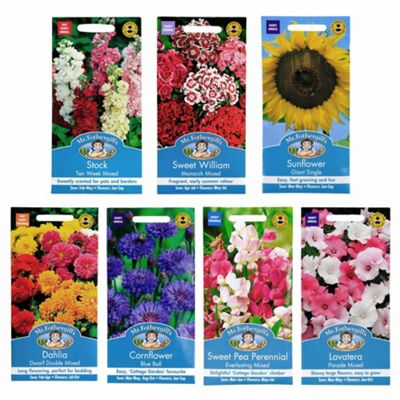 Mr Fothergill's Seeds - Bee Friendly Flower Collection - 7pc Multipack