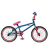 "Zombie Scream 20"" Wheel 360 Gyro Freestyle BMX Bike Blue/Pink"