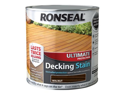 Ronseal Ultimate Protection Decking Stain Walnut 2.5 Litre RSLUDSW25L