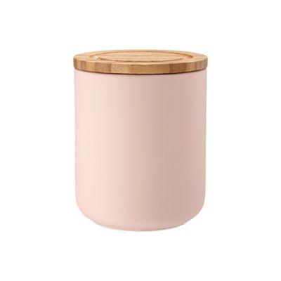 Ladelle Stak Soft Matt Pink Canister, 13cm