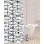 Sabichi Raindrops PEVA Shower Curtain