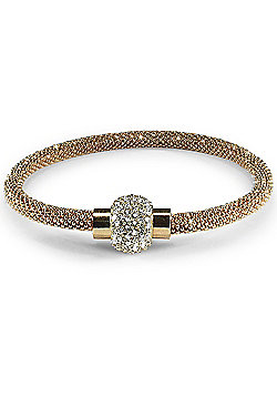 Jewelco London Rhodium Coated Sterling Silver CZ Gilded bead set Popcorn Bracelet