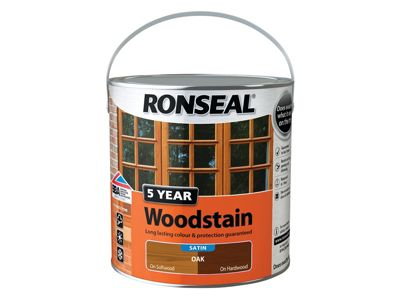 Ronseal 5 Year Woodstain Oak 2.5 Litre