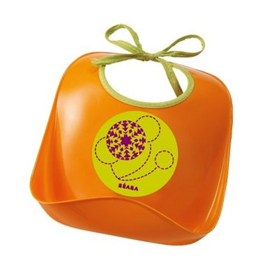 Beaba Training Bib Orange Swirls