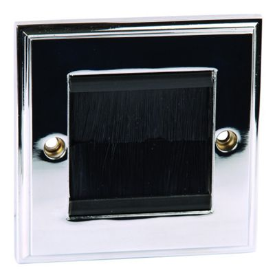 Philex 2G Cable Entry/Exit Faceplate - Polished Chrome