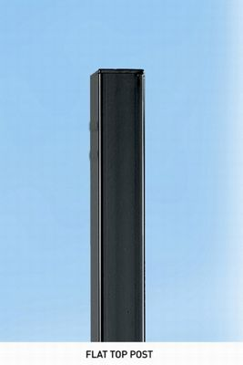 Metal Post for Gates or Fencing 5x5cm Sq x 140cm High, Concrete-in