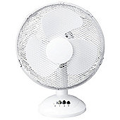 "White 12"" Oscillating Cooling Desk Fan"