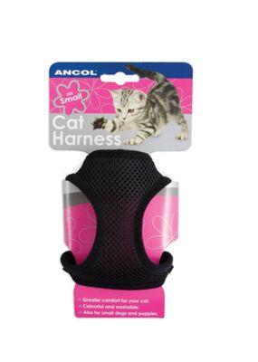 Ancol Cat Harness Soft Nylon Black