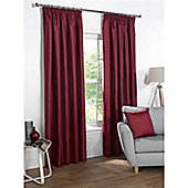Rapport Sophia Pencil Pleat Blackout Curtains - Red