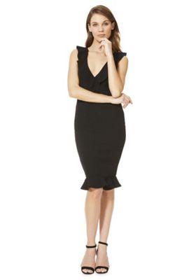 AX Paris Ruffle Midi Dress Black 12