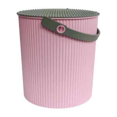 Hachiman Omnioutil Storage Bucket & Lid Large Pink Grey