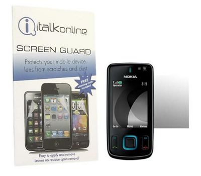 iTALKonline S-Protect LCD Screen Protector and Micro Fibre Cleaning Cloth - For Nokia 6600 Slide