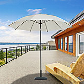 Outsunny D2.6m Patio Umbrella Canopy Parasol Tilt Shelter Sun Shade Aluminium (Cream White)