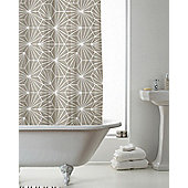 Country Club Shower Curtain Skandi Geo Mink 180 x 180cm