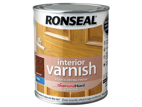 Ronseal Interior Varnish Quick Dry Satin Dark Oak 750ml