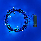 48 Blue LED Outdoor Battery Fairy Lights