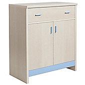 Fan Faro 1 Drawer 2 Door Cupboard With Blue Trims