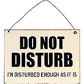 Do Not Disturb Metal Wall Sign
