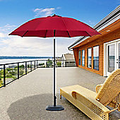 Outsunny D2.6m Patio Umbrella Canopy Parasol Tilt Shelter Sun Shade Aluminium (Wine Red)